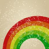 Retro a rainbow — Stock Vector