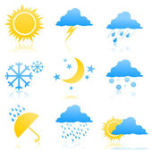 Weather icons2 — Stok Vektör