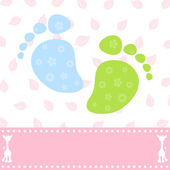 Foot of the child — Stock Vector