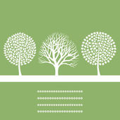 Three trees — Stock Vector
