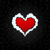 Musical heart — Stock Vector