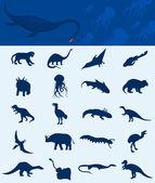Samling av en dinosaurie — Stockvektor