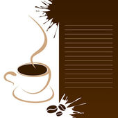 Mug Of Coffee For The Coffee Menu — Stock Vector