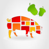 Pig pig — Stock Vector