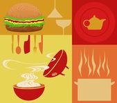 Food food — Stock Vector