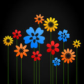Flower a background — Stock Vector