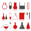 Collection of icons on a theme chemistry.  — Vettoriali Stock