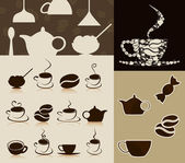 Reunión de temas sobre un tema de café. — Vector de stock