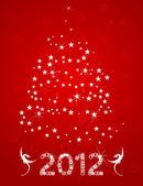 Christmas tree from stars — Stock Vector