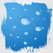 Wasser auf Glas — Stockvektor
