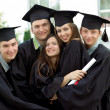 Graduates rejoice and indulge — Stock Photo #5407459