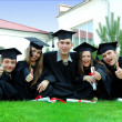 Graduates rejoice and indulge — Stock Photo