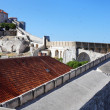 Old fortress wall of Dubrovnik — Stock Photo