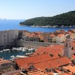 Dubrovnik old town and Lokrum — Stock Photo