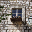 Old window in Dubrovnik — Stock Photo