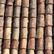 Old tiled roof — Stock Photo