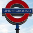 London underground sign - Stock Photo