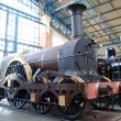Modern and steam locomotives — Stock Photo #6431070