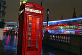 Iconic London Scene at night time — Stock Photo