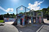 Urban skate ramp — Stock Photo