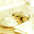 TeaPot with cup — Stock Photo