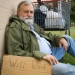 homeless man — Stock Photo #5569336