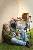 Homeless Man Sleeping — Stock Photo