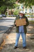 Homeless Beggar — Stock Photo
