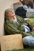 Hopeless Homeless — Stock Photo