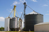 Grain Storage Elevators — Stock Photo