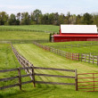 Fenced Pastures With Barn — Stock Photo #5829464
