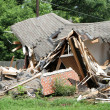 Crushed House — Stockfoto