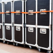 Containers for concert equipment — Stock Photo