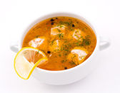Salmon soup — Stock Photo