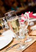 Champagne in stemware — Stock Photo