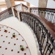 Stok fotoğraf: Winding staircase with forged rail