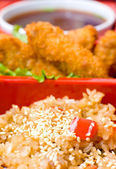 Oriental dinner, macro — Stock Photo