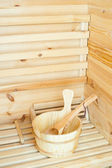 Woden Sauna — Stock Photo