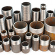 Many threaded pipes — Stock Photo