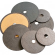 Abrasive disks for metal cutting — Stockfoto