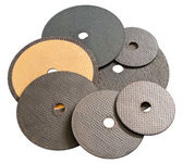Abrasive disks for metal cutting — Stock Photo