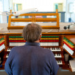 Organ player — Stock Photo