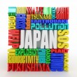 Tragedy in Japan. Words. — Stock Photo