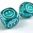 Dice with different emotions on faces — Stock Photo #5793531