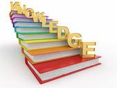 階段として帳簿上の単語の知識 — ストック写真