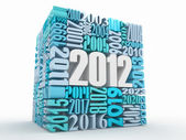 New year 2012. Cube consisting of the numbers — Foto Stock