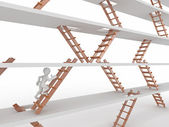 Way up. and ladders. — Stock Photo