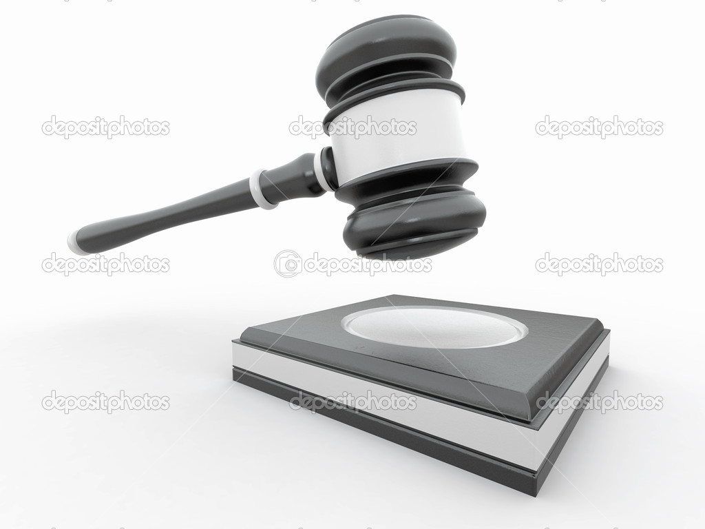 Judge gavel on white isolaed background — Stock Photo ...
