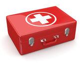 Pierwszej pomocy. zestaw medyczny. 3d — Zdjęcie stockowe