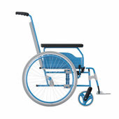 Empty wheelchair on white isolated background — Stock Photo